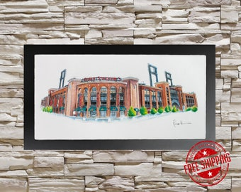 Busch Stadium Wall Art  st louis Cardinals wall art cardinals fan gift