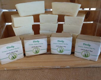 Vitality Hand Milled Soap - Lemongrass and Grapefruit  ( wedged or square)