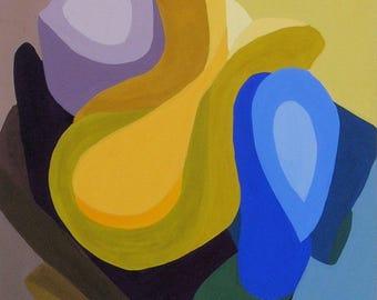 Abstract Art Gouache Original Painting By Cori Solomon