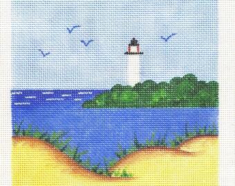 Lighthouse Needlepoint   7 x7  Square - Jody Designs  S12
