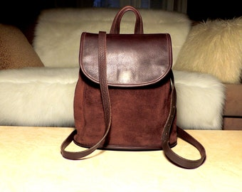 Rare, Roomy Vintage COACH Mahogany Brown Berkeley Collection 9016 Convertible Backpack Crossbody: Thick Tactile Boho Luxe Lusciousness