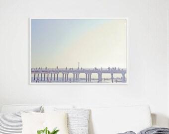 "Original Beach Photography // Large Beach Photography // Coney Island Boardwalk Sunset // Beach Photography  - ""Boardwalk Dreams"""