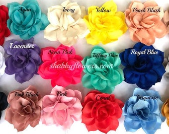 Lotus Flower Hair Clip Choose Your Color Attached to Alligator Clip, Flower Hair Clips, Baby Hair Clips, Toddler Clips, Newborn Hair Clips