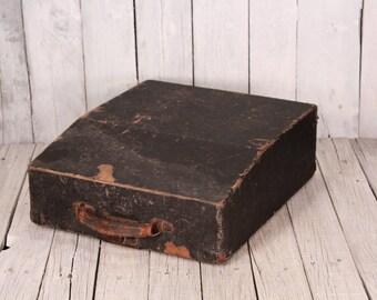 Antique typewriter suitcase, Typewriter holder,  Vintage typewriter suitcase, Vintage travel suitcase, Distressed suitcase, Old suitcase