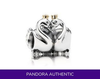 Authentic Pandora Swan Embrace Charm - ALE 925 Sterling Silver Couples Love