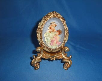 Madonna and Child Decorative Egg