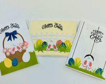 Easter Cards, Handmade Easter Cards, Bunnies, Note Card Set, Note Cards with Envelopes, Set of 6