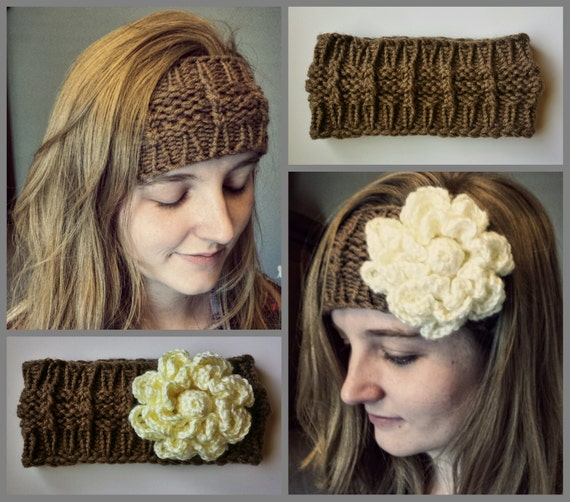 Loom Knitting Patterns Huntress Headband Ear Warmer In Large Gauge