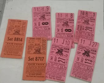 Vintage  used 1960s pittsburgh pirates ticket stubs lot of 7