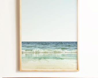 Ocean print, PRINTABLE ART, Beach photography, Waves print, Coastal decor, Seaside art, California wall art, Wall decor, Tropical wall art