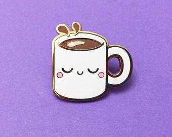 Coffee Pin Pal - Hard Enamel Pin Badge