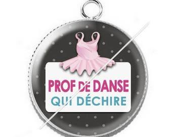 Pendant cabochon resin for a dance teacher 5