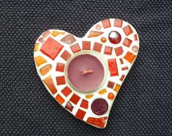 Small mosaic holder Red