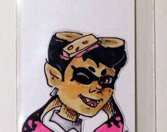 Splatoon Squid Sister Hand-Made Custom Sticker