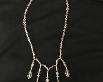 Giavan Light Pink Crystal Necklace