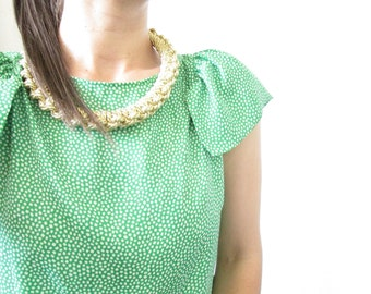 Gold Rope necklace Gold statement necklace Knot Rope Necklace