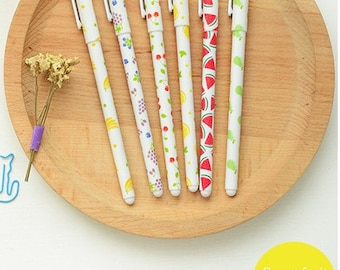 10% OFF Sweet Fruit pens-- Set of 6pcs gel pens for DIY scrapbook, painting, drawing, writing, sign---2 Styles to choose