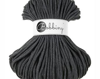 Bobbiny Rope – Charcoal (100m)