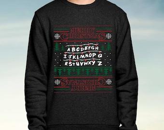 Stranger Things Inspired - Black - Christmas Jumper / Sweatshirt