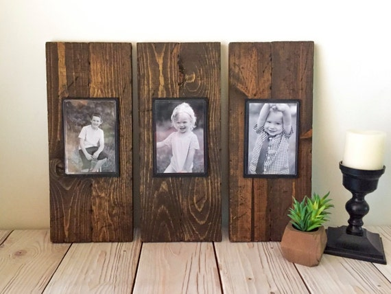Rustic Wood Frame - Picture Frame Set - Rustic Picture Frame Set ...