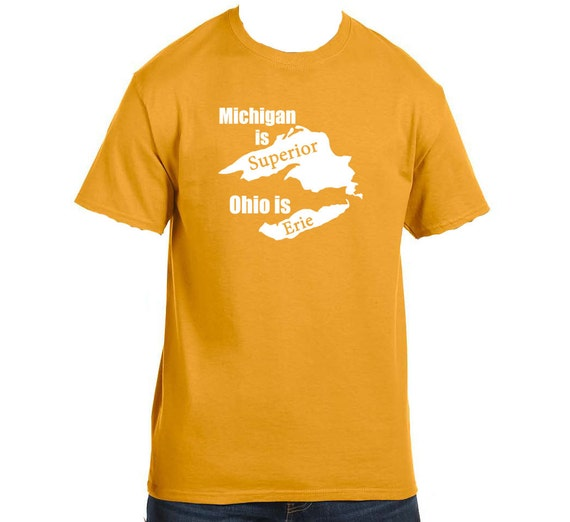 Michigan is superior ohio is erie funny custom states tees for Toddler custom t shirts no minimum