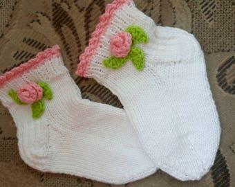 Children's knitted socks. Cotton 100%