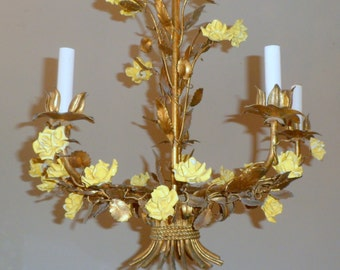 Italian tole light etsy antique style tole chandelier mozeypictures Image collections