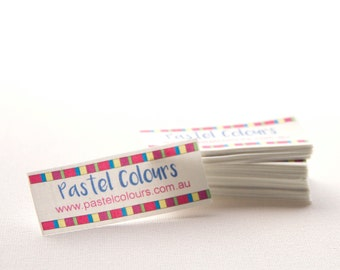 """66 - 1"""" x 2.5"""" - sew in fabric labels - Your logo and text"""