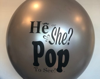 Silver Gender Reveal Balloon, He or She Balloon, Silver Gender Reveal, Gender Reveal, Silver Reveal