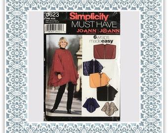 Simplicity 0623 Misses' wraps - Vintage Uncut Sewing Pattern