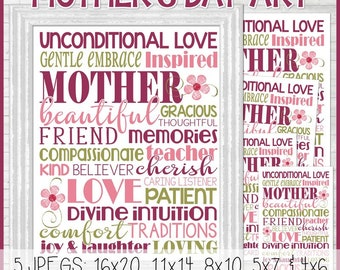 Mother's Day Subway Art, Mother's Day Gift, Mother's Day Print, MAY Subway Art, Digital Print - Printable INSTANT DOWNLOAD