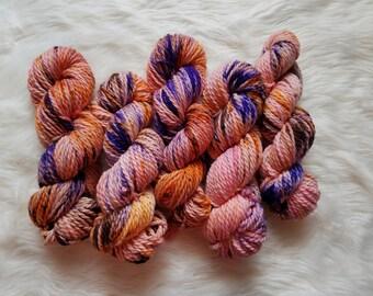 Flamenco, Bulky Weight Yarn, Hand Dyed Yarn( 100 percent Superwash Merino Wool)