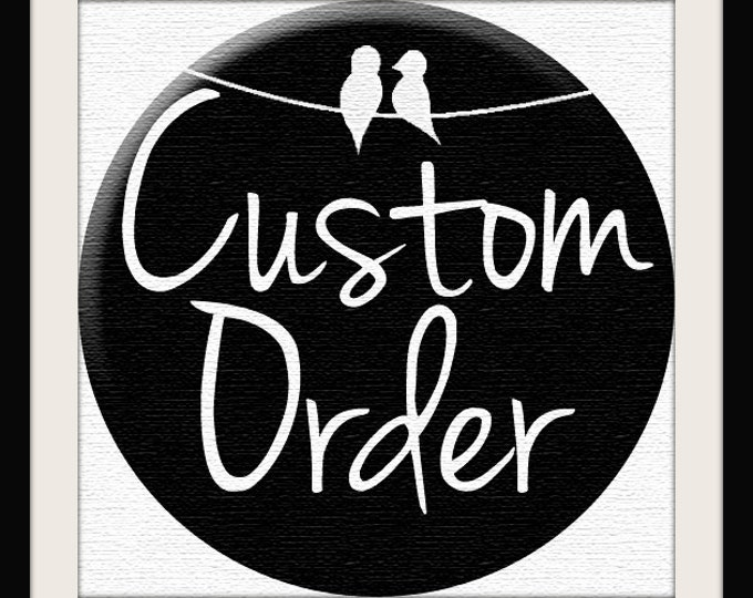 RESERVED for Christina - Custom Order for Love Bird Painting