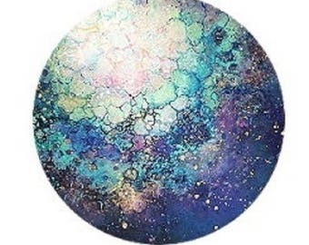 pretty abstract planet cabochon 20mm