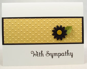Sympathy Card, With Sympathy, handmade card, condolence card, bereavement card, loss of a loved one, sorry for your loss, MADE TO ORDER
