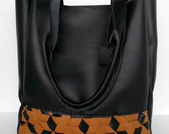 Black Leather Tote - Large Black Leather Bag - Brown Leather Bag,Brown Leather Tote, brown leather tote