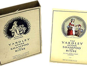 Vtg Yardley English Lavender Henna Shampoo Rinse Unopened Packet Original Box