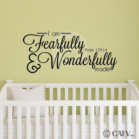 I Am Fearfully And Wonderfully Made Psalm 139:14 vinyl