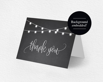 Thank You Card, Thank You Card Template, Thank You Cards Wedding, Template, Printable Thank You, DIY, PDF Instant Download #BPB299_27