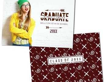 Trendy, Arrows Graduation Announcements