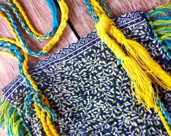 Gypsy Tassel Bag, Handmade Unique Shaggy Hip Bag, Boho Turkish Bag