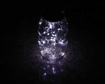 Solar String Light Lids with 20 LEDs for Regular or Wide Mouth Mason Jars – Multi-pack | Weatherproof | Water proof | Weddings | Camping