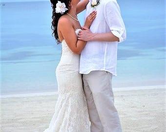 WEDDING HAIR Clip, Bridal Hair Flower, Hair Accessory, Real Touch Orchids, Hair flower, Headpiece, Beach Wedding, Hawaiian, Custom Hair clip