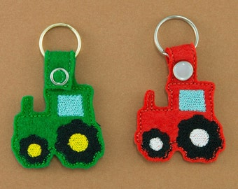Farmer Tractor Key chain Key Fob Accessory Set of Two, gift for farmer, unique gift, gift under 10