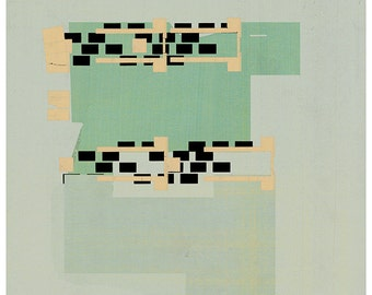 Abstract collage, geometric print, Abstract composition 60