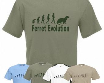 Evolution To Ferret t-shirt Funny Polecat T-shirt sizes Sm TO 2XXL