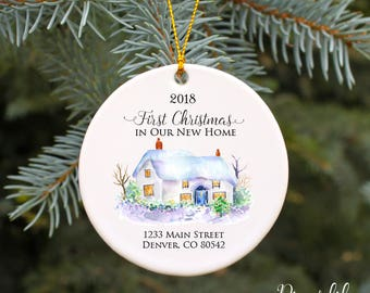 First Christmas in Our New Home Ornament New House Ornament Housewarming Gift Our 1st Home Christmas Ornament Our New Home Watercolor House