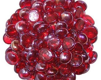 Red Glass Pebbles Home Vases Wedding