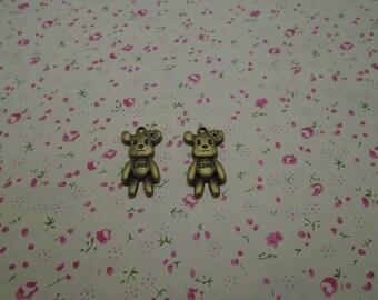 100pcs 28mmx15mm Bear Antique Bronze Retro Pendant Charm For Jewelry Pendant