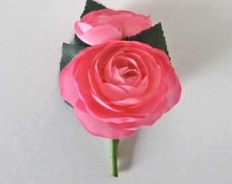 Pink Ranunculus Boutonniere